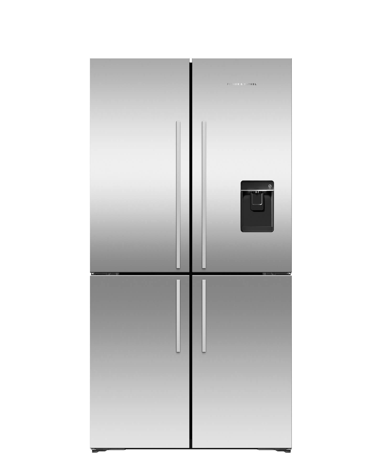 Model: RF203QDUVX1 | Fisher and Paykel ActiveSmart™ Refrigerator - 18.9 cu ft. counter depth Quad Door, Ice & Water