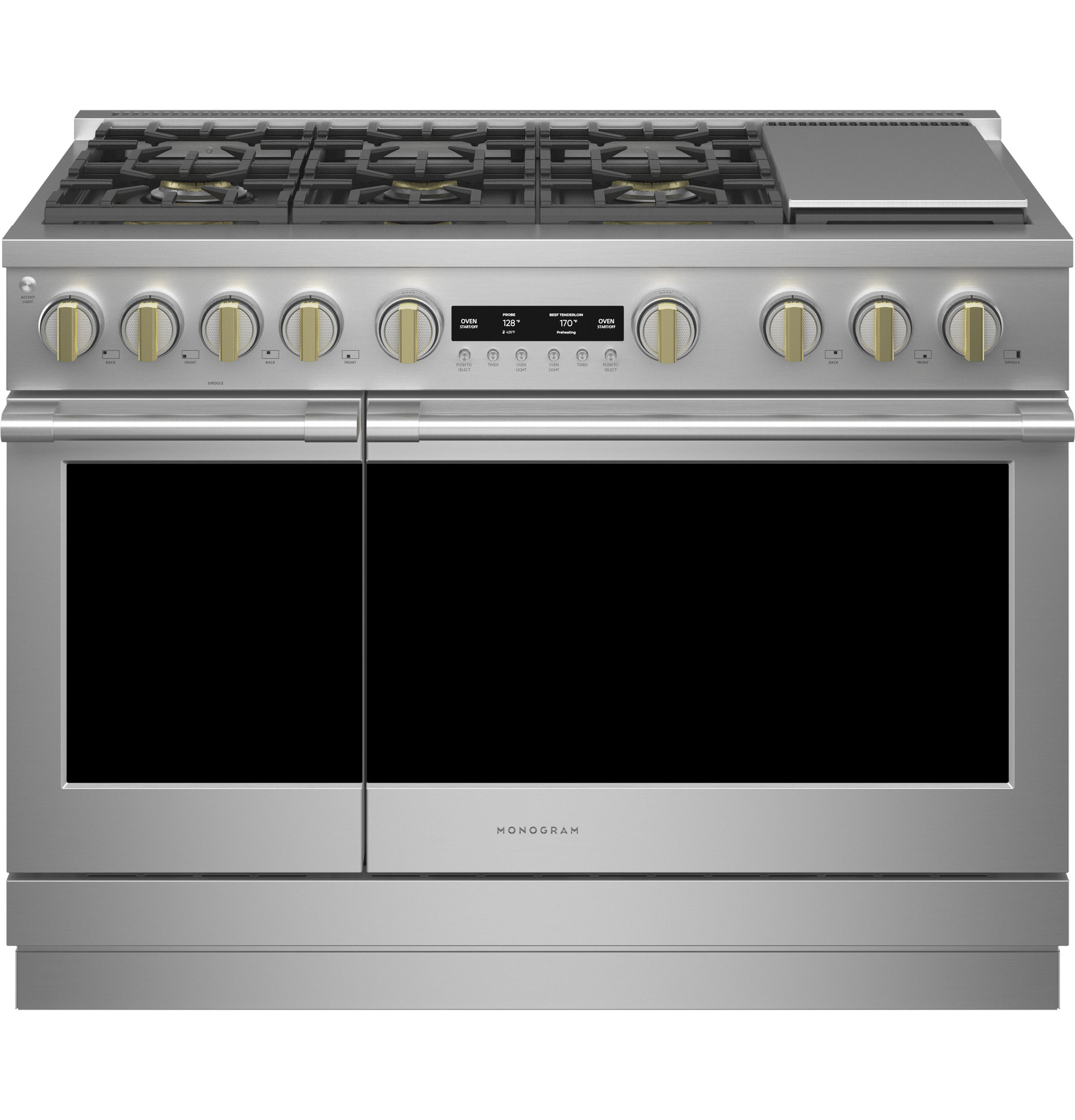 """Monogram Monogram 48"""" All Gas Professional Range with 6 Burners and Griddle (Natural Gas)"""