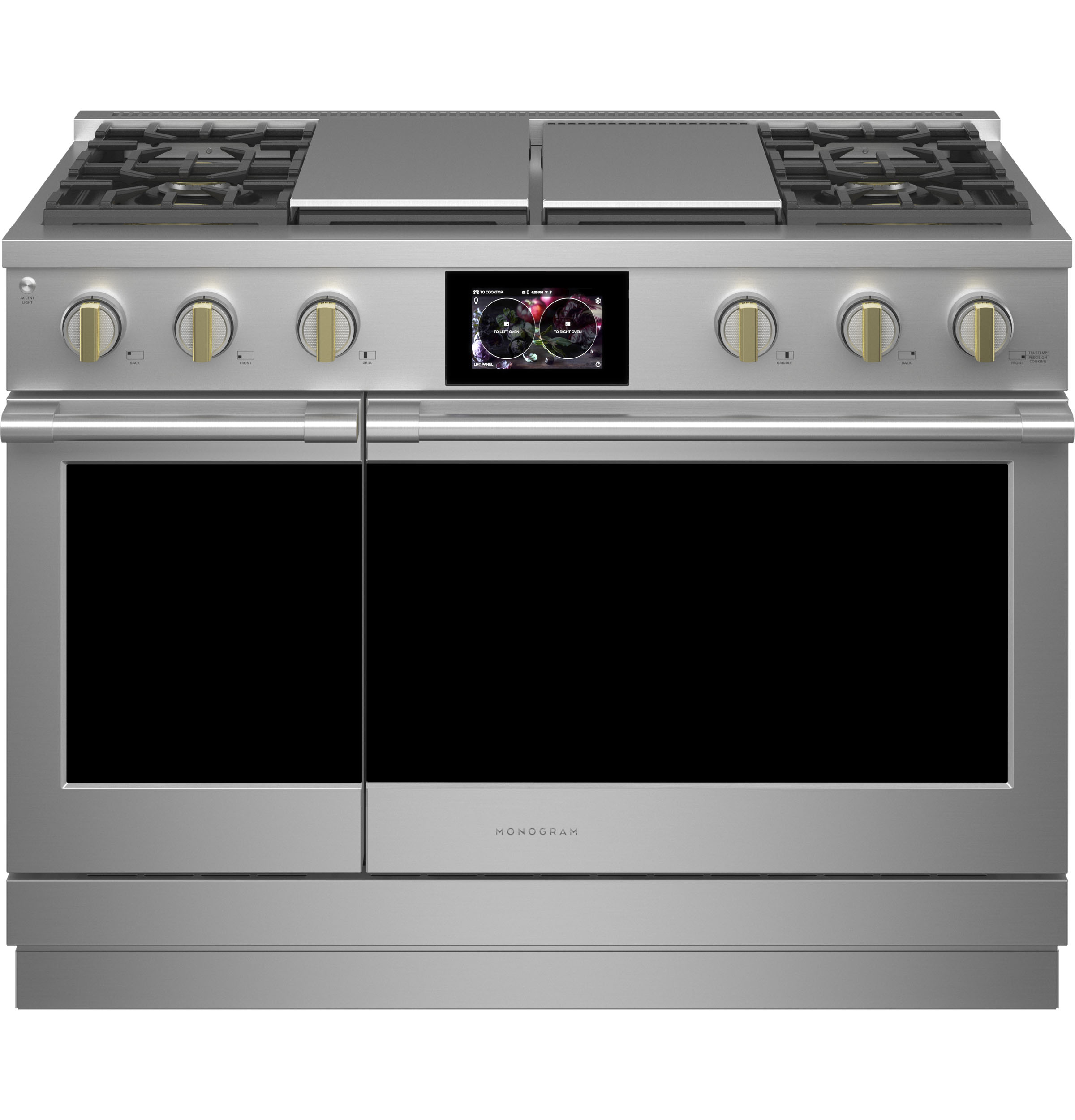 """Monogram Monogram 48"""" Dual-Fuel Professional Range with 4 Burners, Grill, and Griddle (Natural Gas)"""