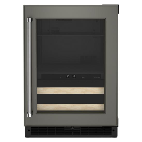 """24"""" Panel-Ready Beverage Center with Wood-Front Racks"""