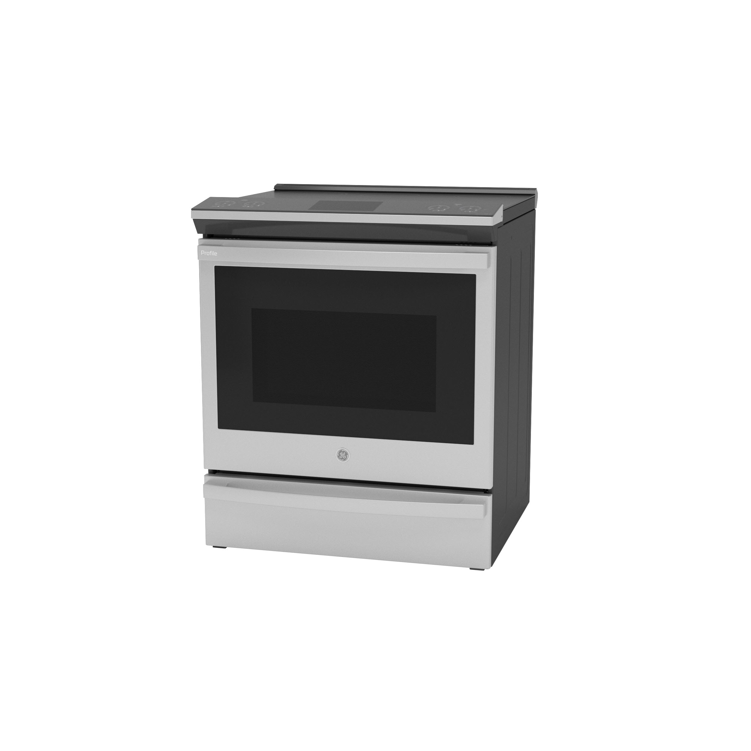 "Model: PHS93XYPFS | GE Profile GE Profile™ 30"" Smart Slide-In Front-Control Induction Fingerprint Resistant Range with In Oven Camera"
