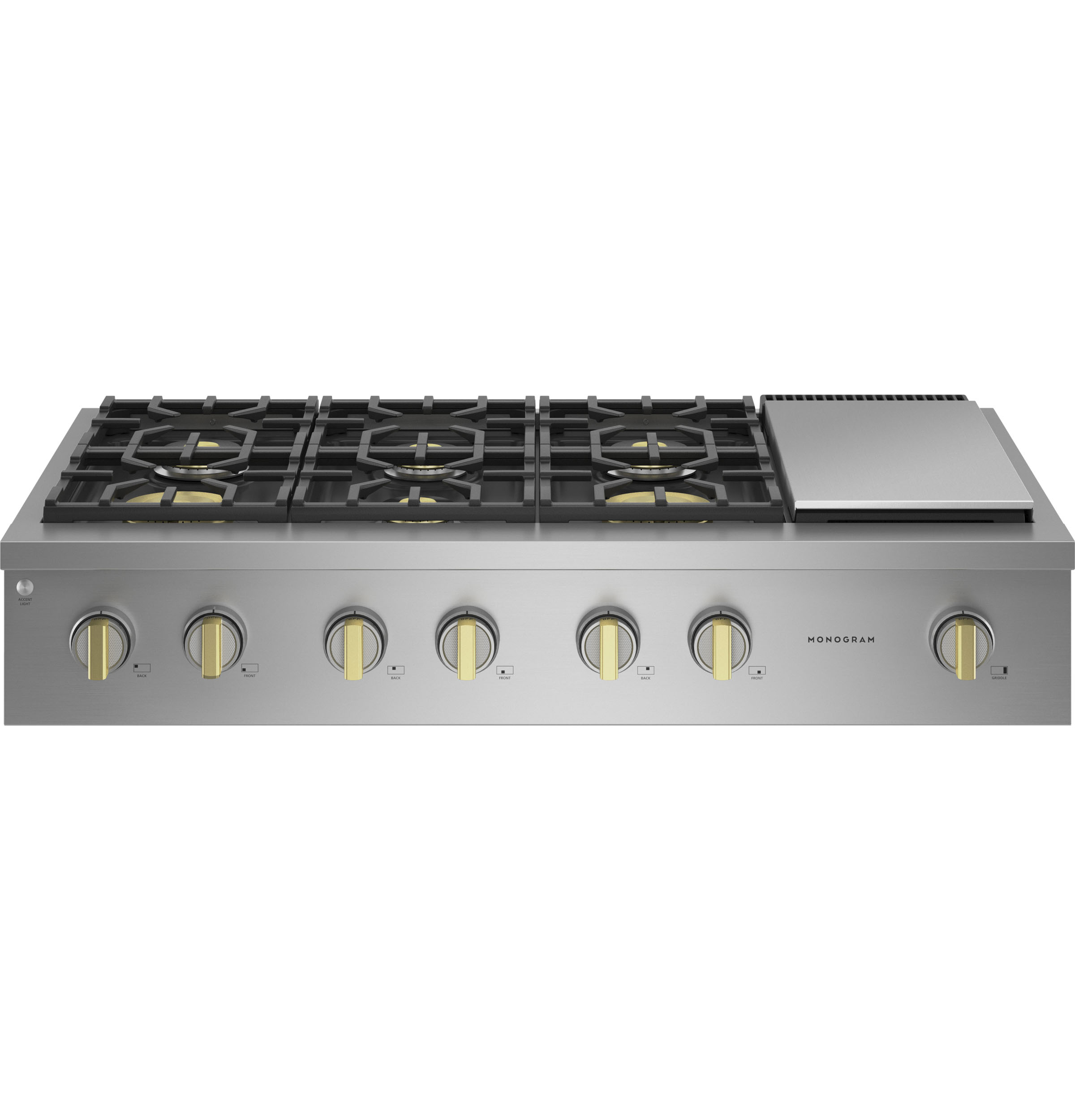 """Monogram Monogram 48"""" Professional Gas Rangetop with 6 Burners and Griddle (Natural Gas) - Coming Spring 2021"""