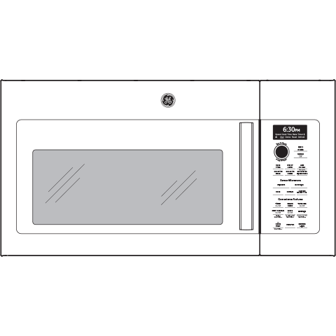 Model: PVM9179DKWW | GE Profile GE Profile™ 1.7 Cu. Ft. Convection Over-the-Range Microwave Oven