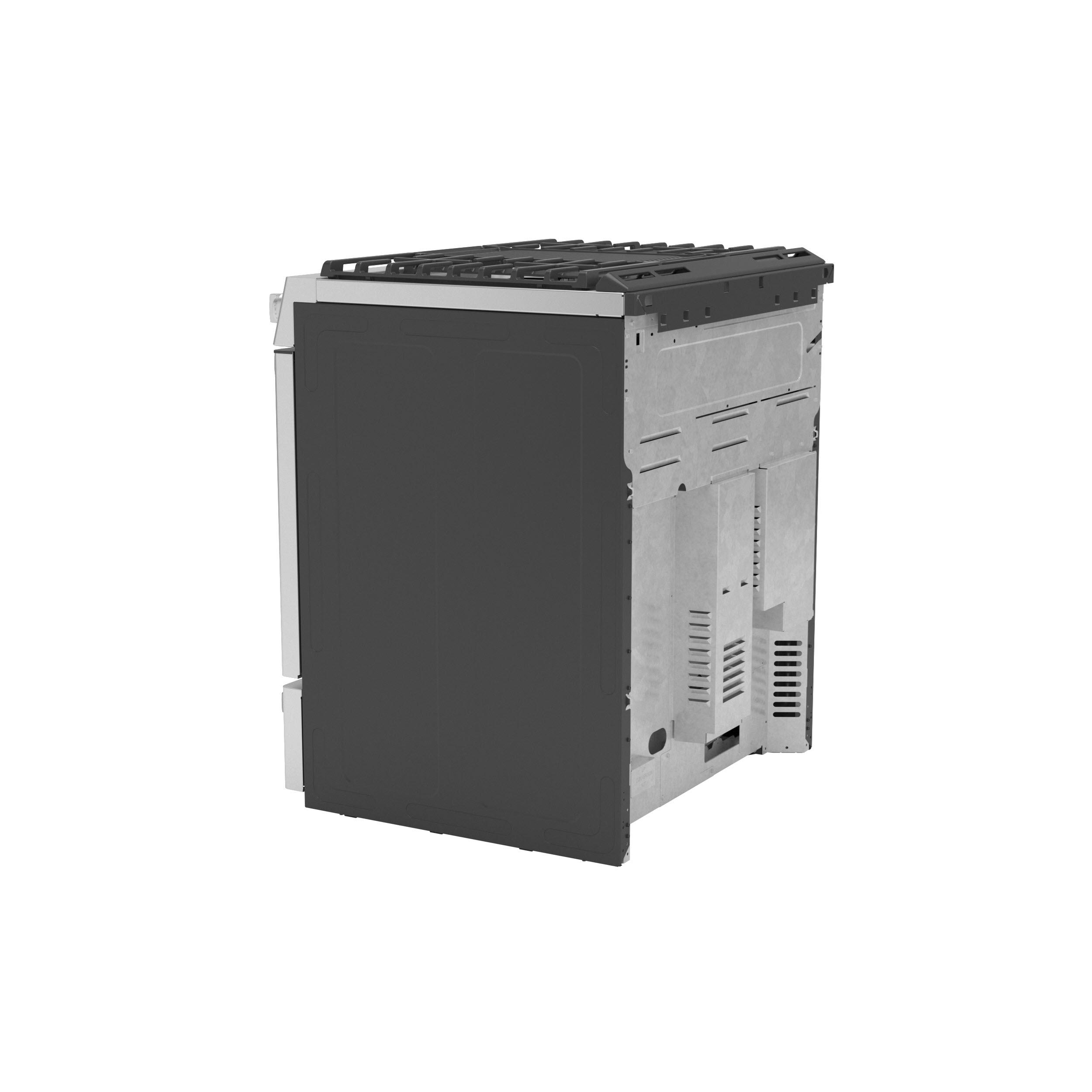 "Model: P2S930YPFS | GE Profile GE Profile™ 30"" Smart Dual Fuel Slide-In Front-Control Fingerprint Resistant Range"