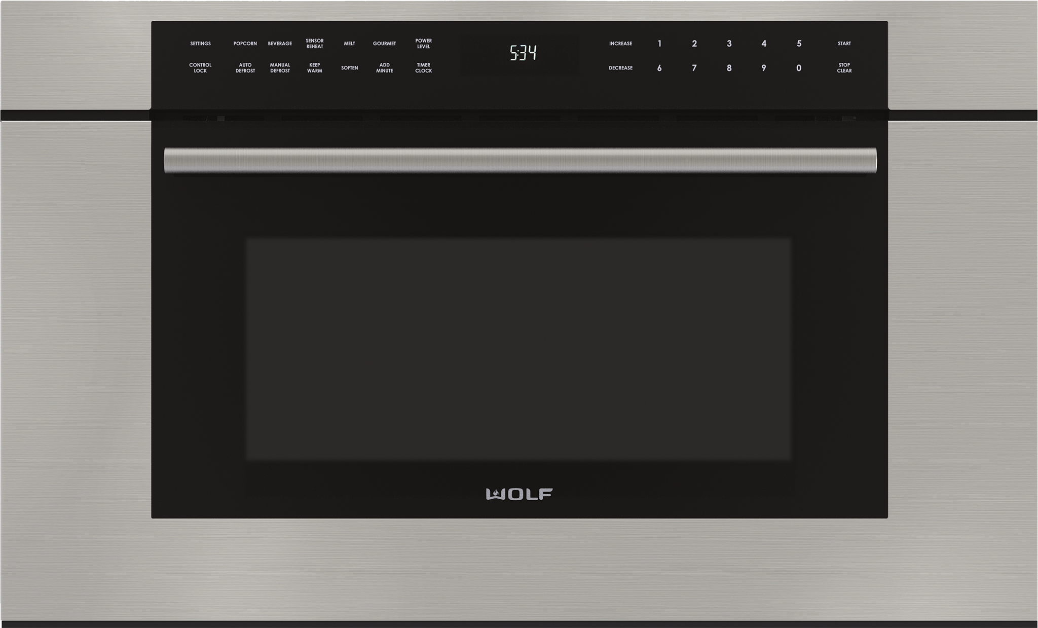"Model: MDD30TM/S/TH | Wolf 30"" M Series Transitional Drop-Down Door Microwave Oven"