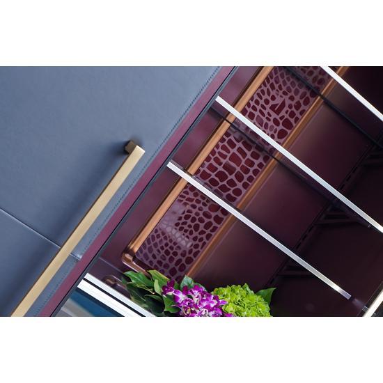 "Model: CARBON18L   Jenn-Air Carbon 18"" Cuts By JennAir Leather Panel"