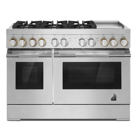 """Jenn-Air RISE™ 48"""" Dual-Fuel Professional Range with Chrome-Infused Griddle"""
