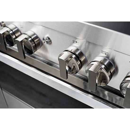 """Jenn-Air NOIR™ 48"""" Dual-Fuel Professional-Style Range with Chrome-Infused Griddle and Grill"""