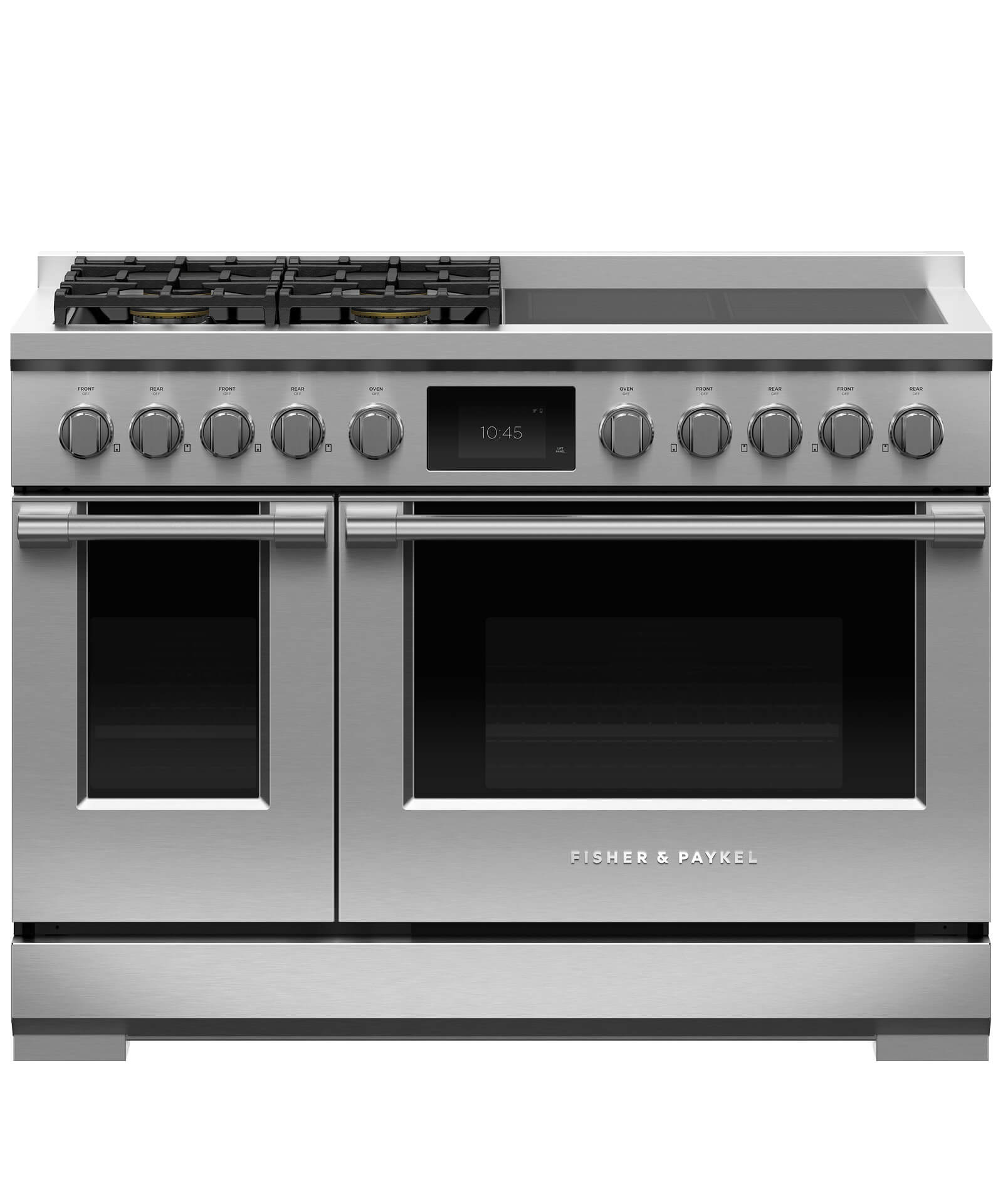 "Fisher and Paykel Dual Fuel Range, 48"", 4 Burners with 4 Induction Zones, LPG"
