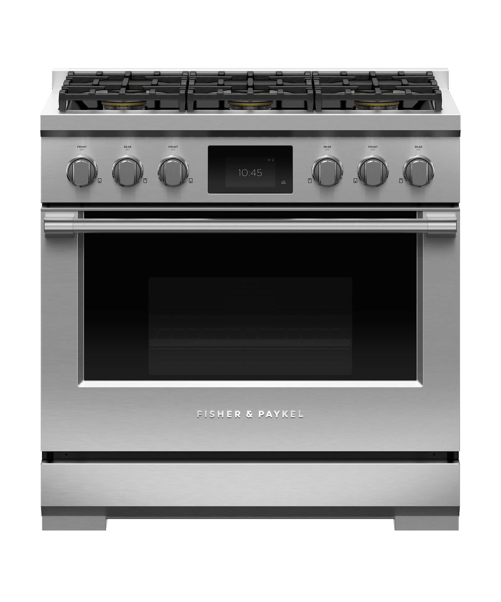 "Fisher and Paykel Dual Fuel Range, 36"", 6 Burners"