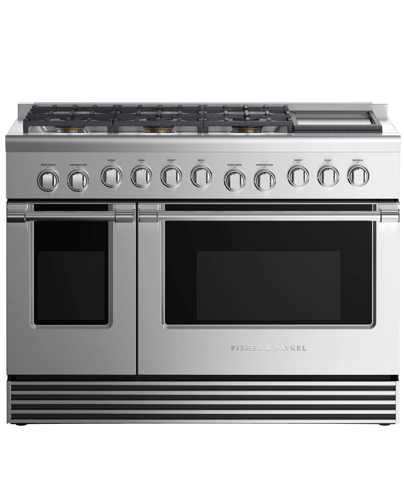 "Fisher and Paykel Gas Range 48"", 6 Burners with Griddle"