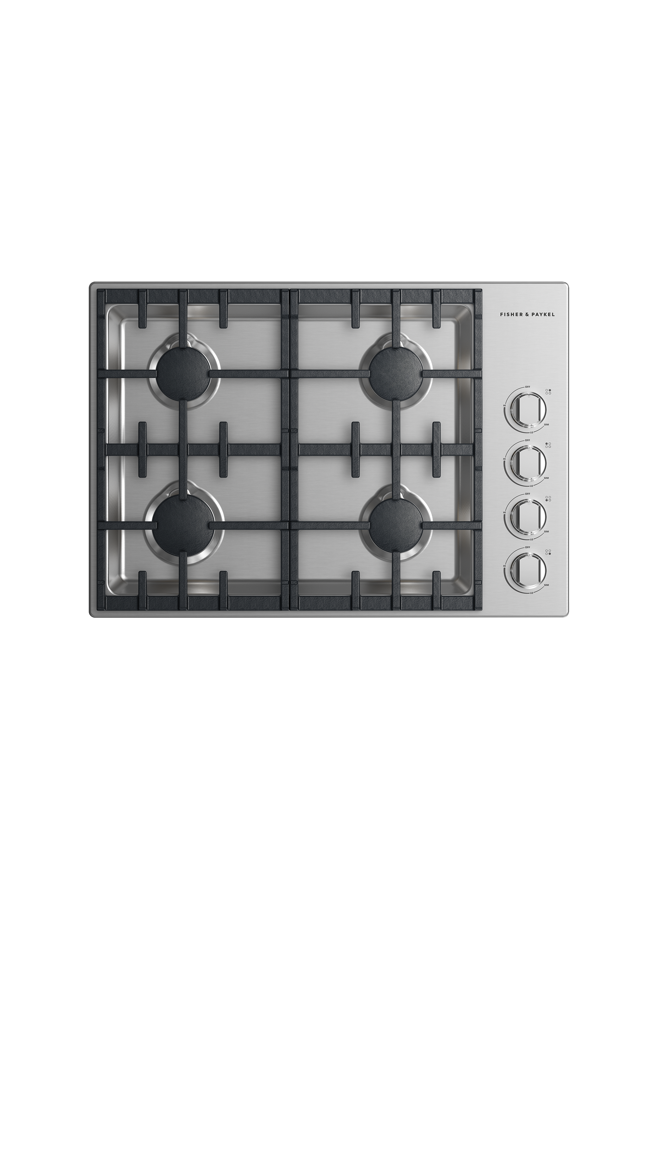 "Model: CDV2-304-N_N   Fisher and Paykel Gas Cooktop 30"", 4 burner"