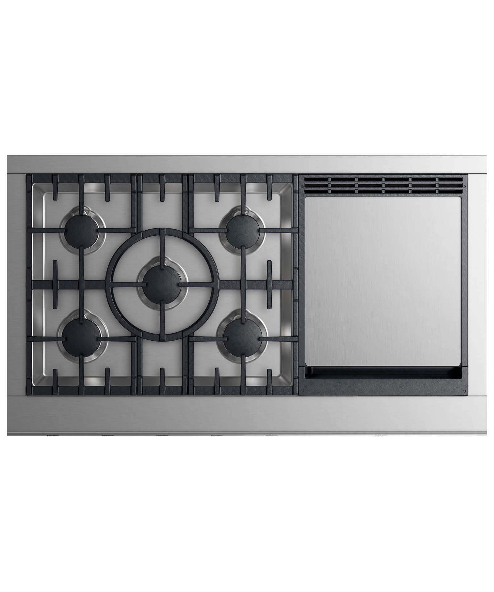 """Fisher and Paykel Gas Rangetop 48"""", 5 burners with griddle (LPG)"""