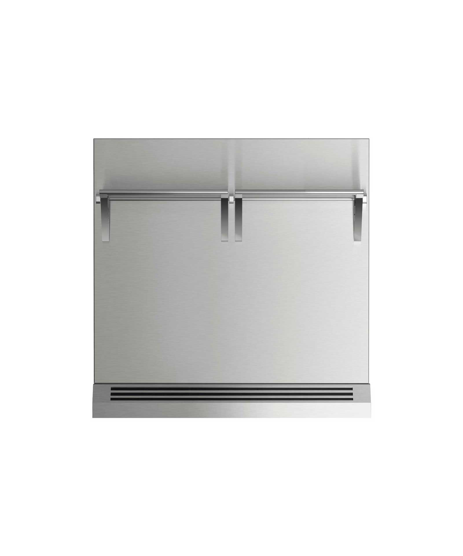 """Fisher and Paykel 30"""" Range High Backguard for combustible situation"""