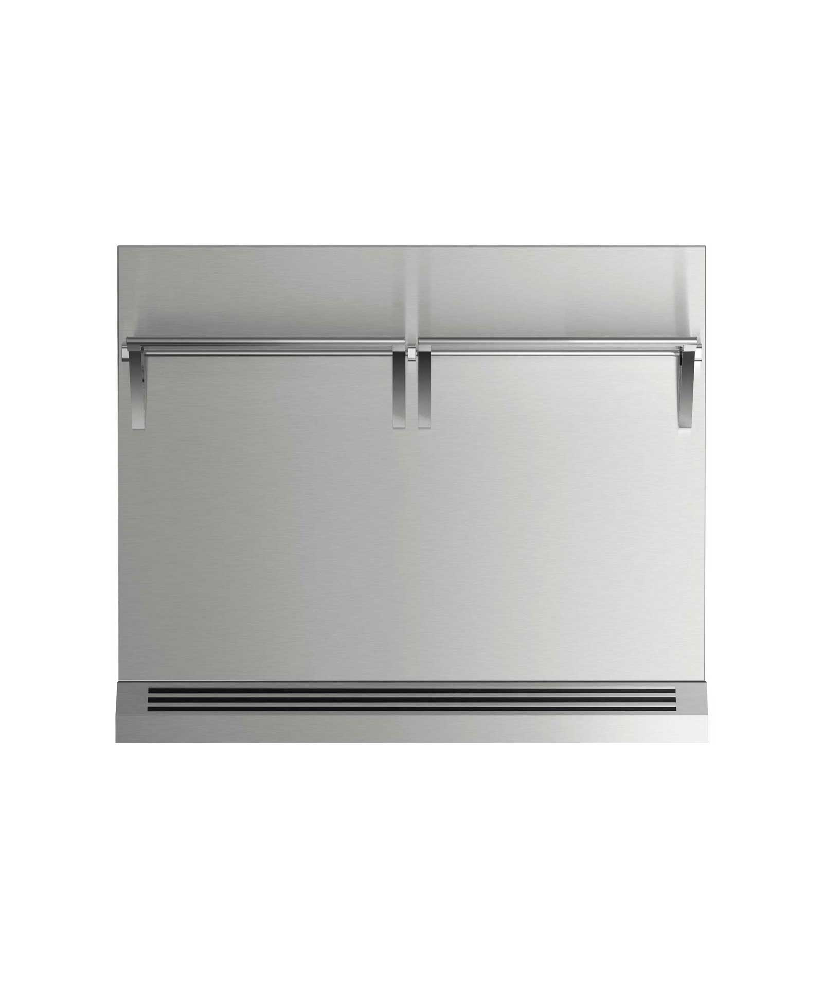 """Fisher and Paykel 36"""" Range High Backguard for combustible situation"""