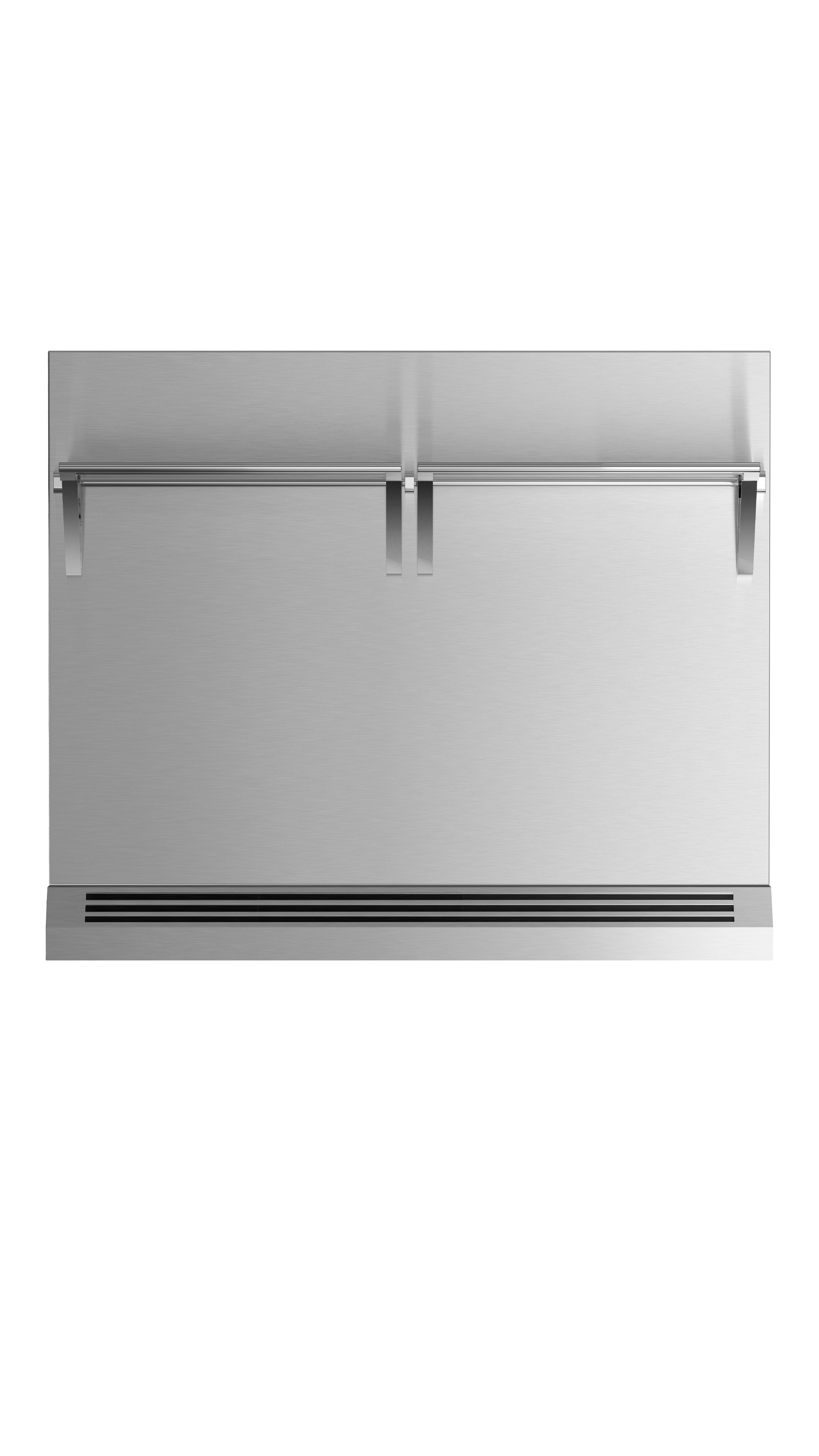 """Model: BGRV2-3036H   Fisher and Paykel 36"""" Range High Backguard for combustible situation"""