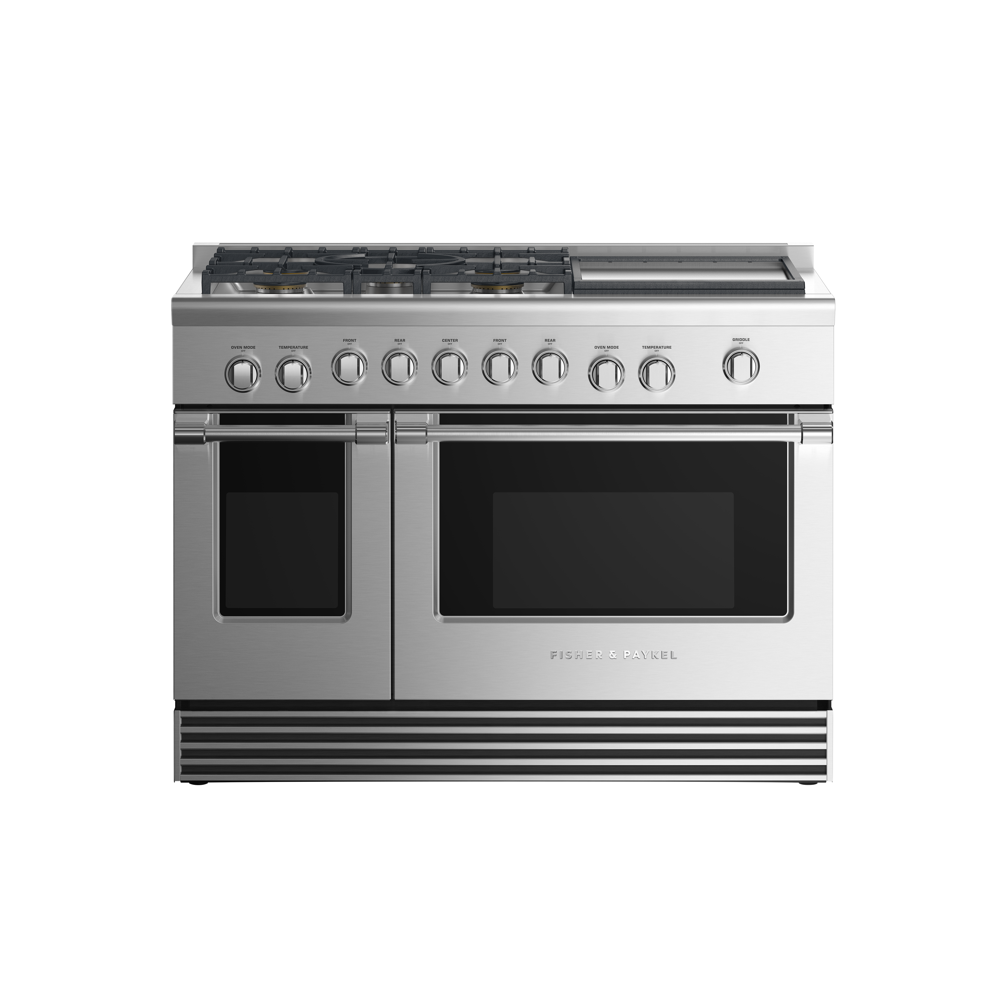 "Fisher and Paykel Gas Range, 48"", 5 Burners with Griddle"