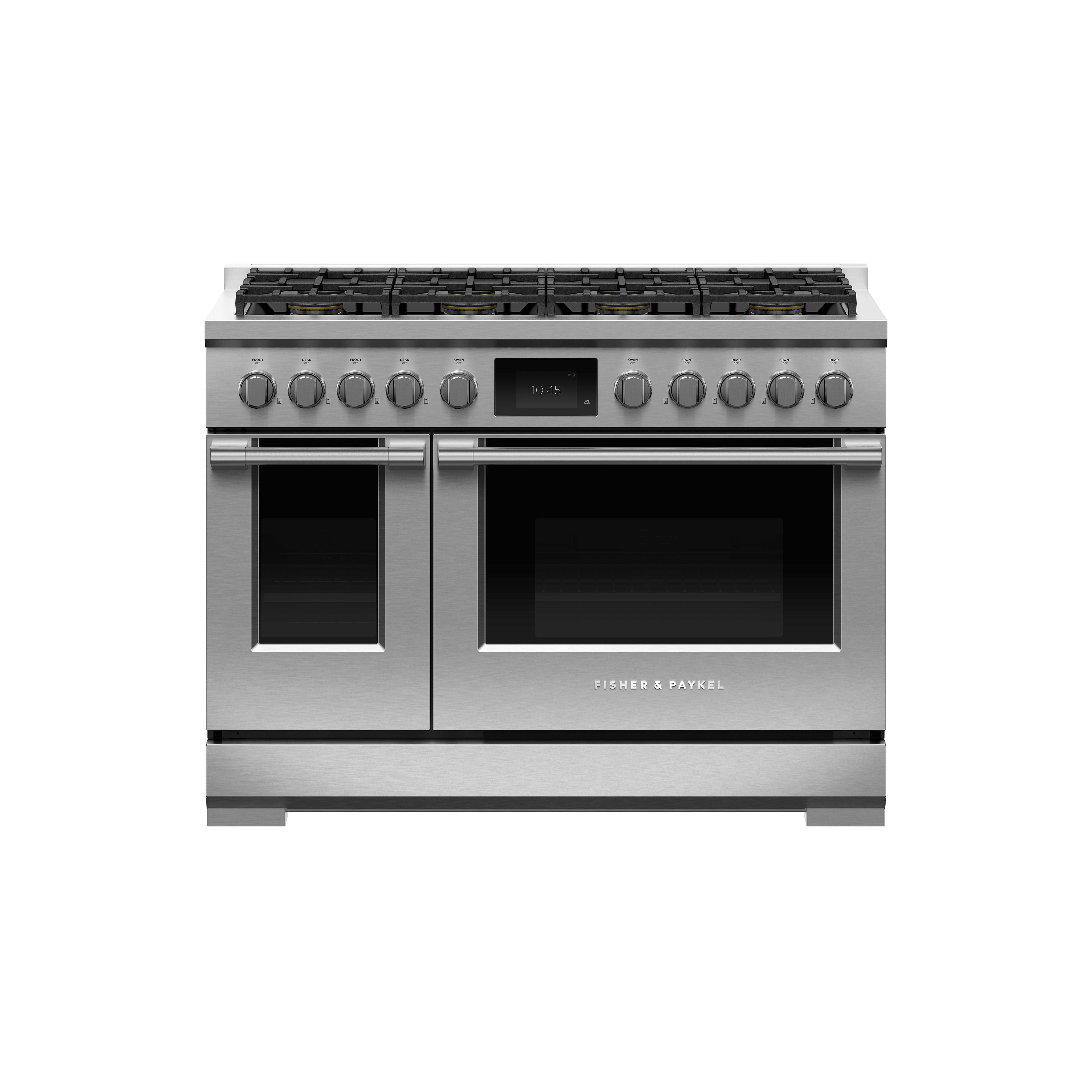 "Fisher and Paykel Dual Fuel Range, 48"", 8 Burners, Self-cleaning"