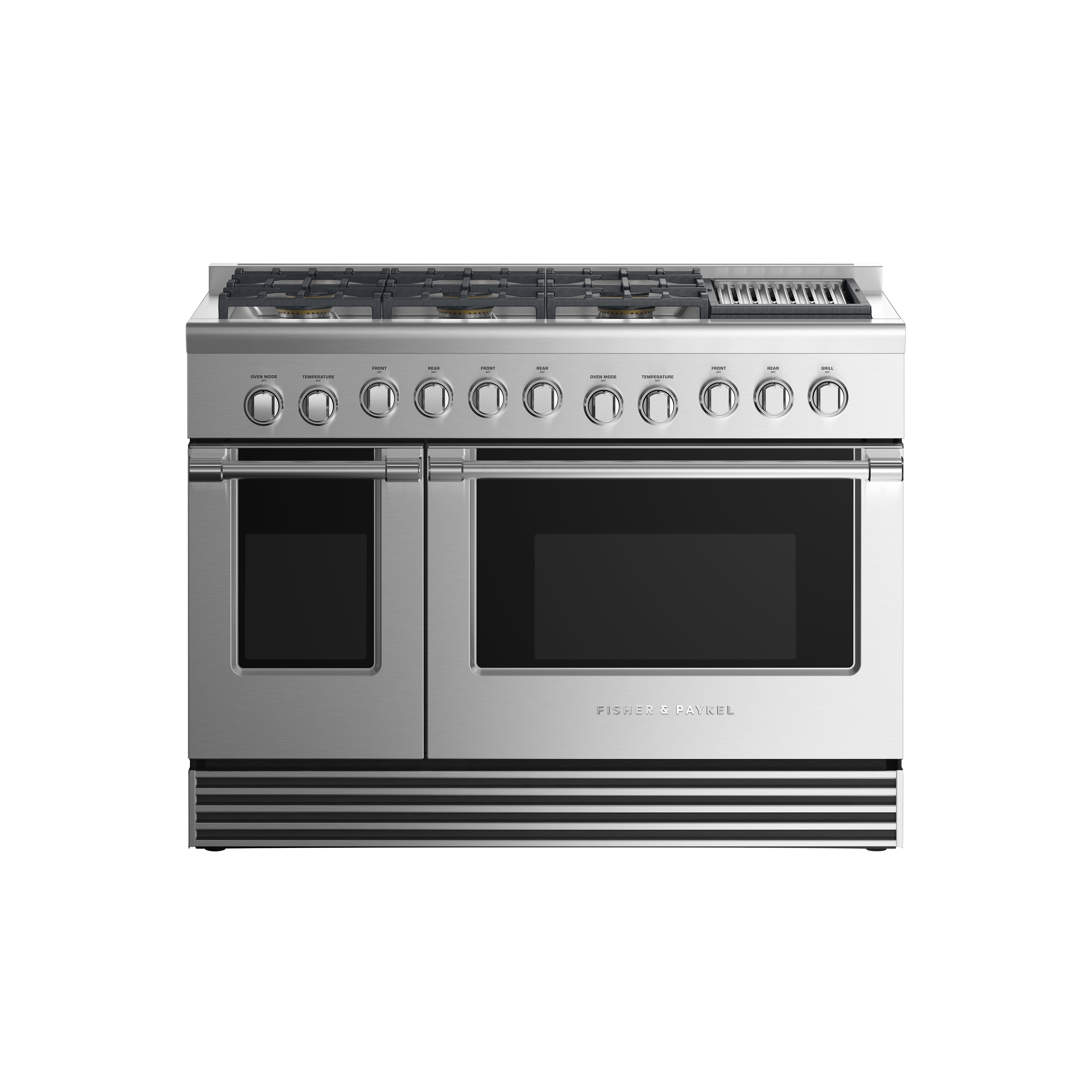 "Fisher and Paykel Dual Fuel Range, 48"", 6 Burners with Grill, LPG"
