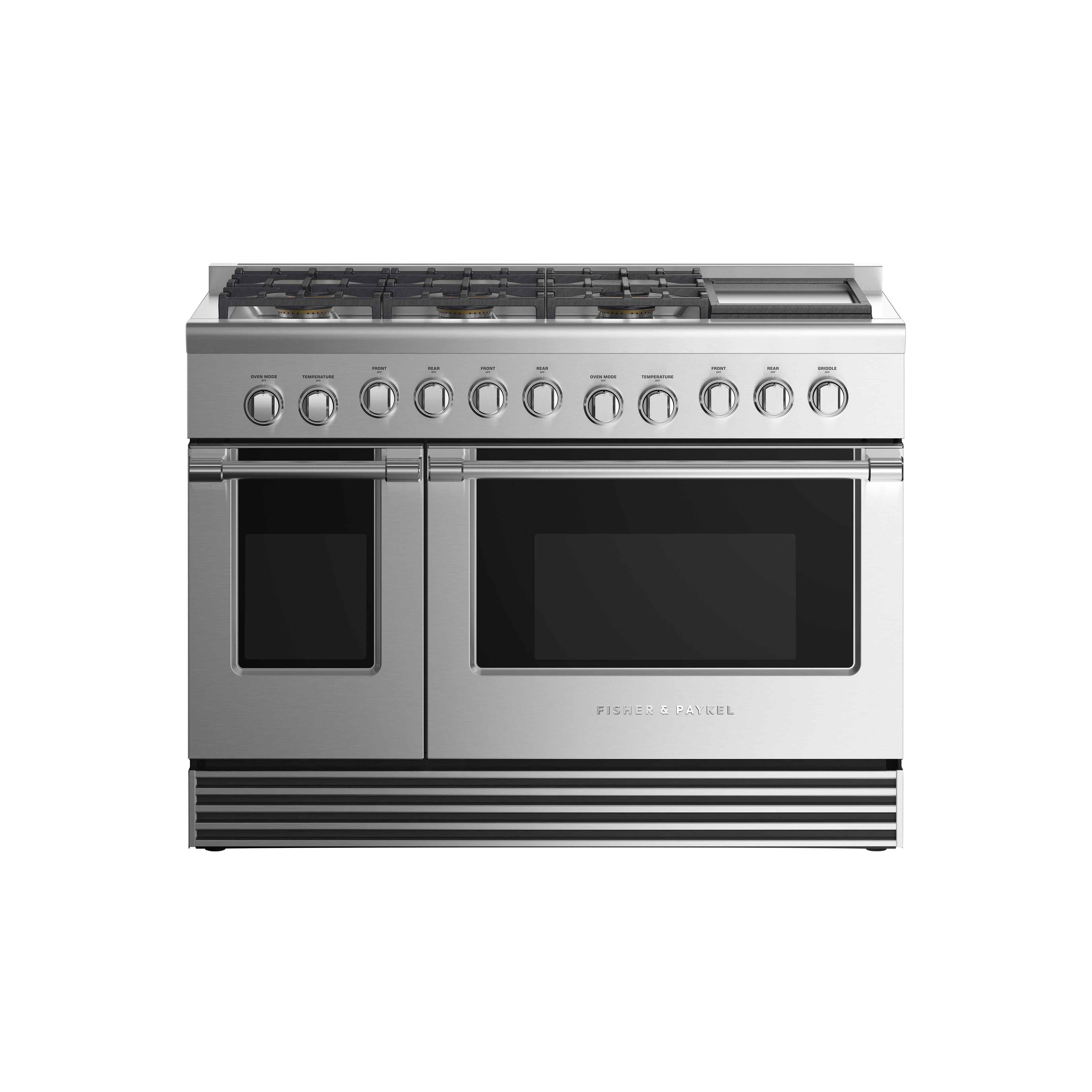 "Fisher and Paykel Dual Fuel Range, 48"", 6 Burners with Griddle, LPG"