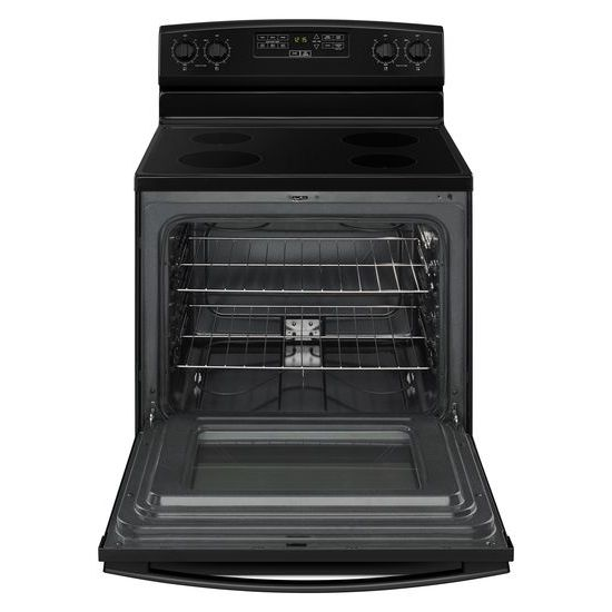 Model: AER6303MFB | Amana 30-inch Electric Range with Extra-Large Oven Window
