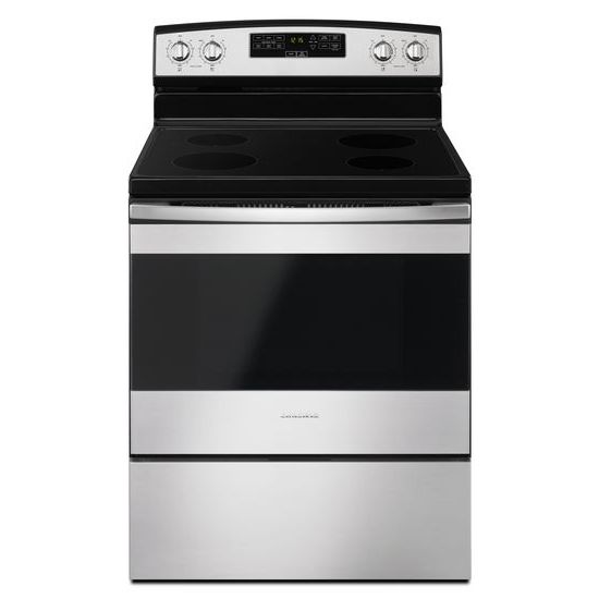 Model: AER6303MFS | Amana 30-inch Electric Range with Extra-Large Oven Window