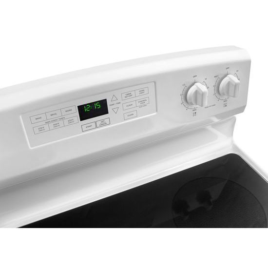 Model: AER6603SFW | Amana 30-inch Electric Range with Self-Clean Option