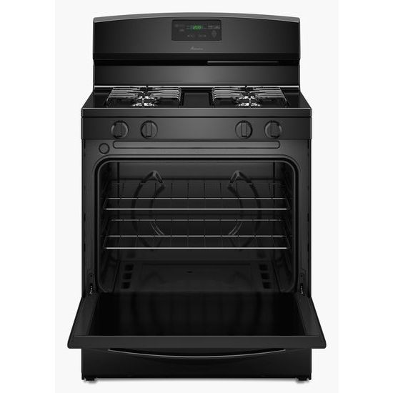 Model: AGR5330BAB | Amana 30-inch Gas Range with Easy Touch Electronic Controls