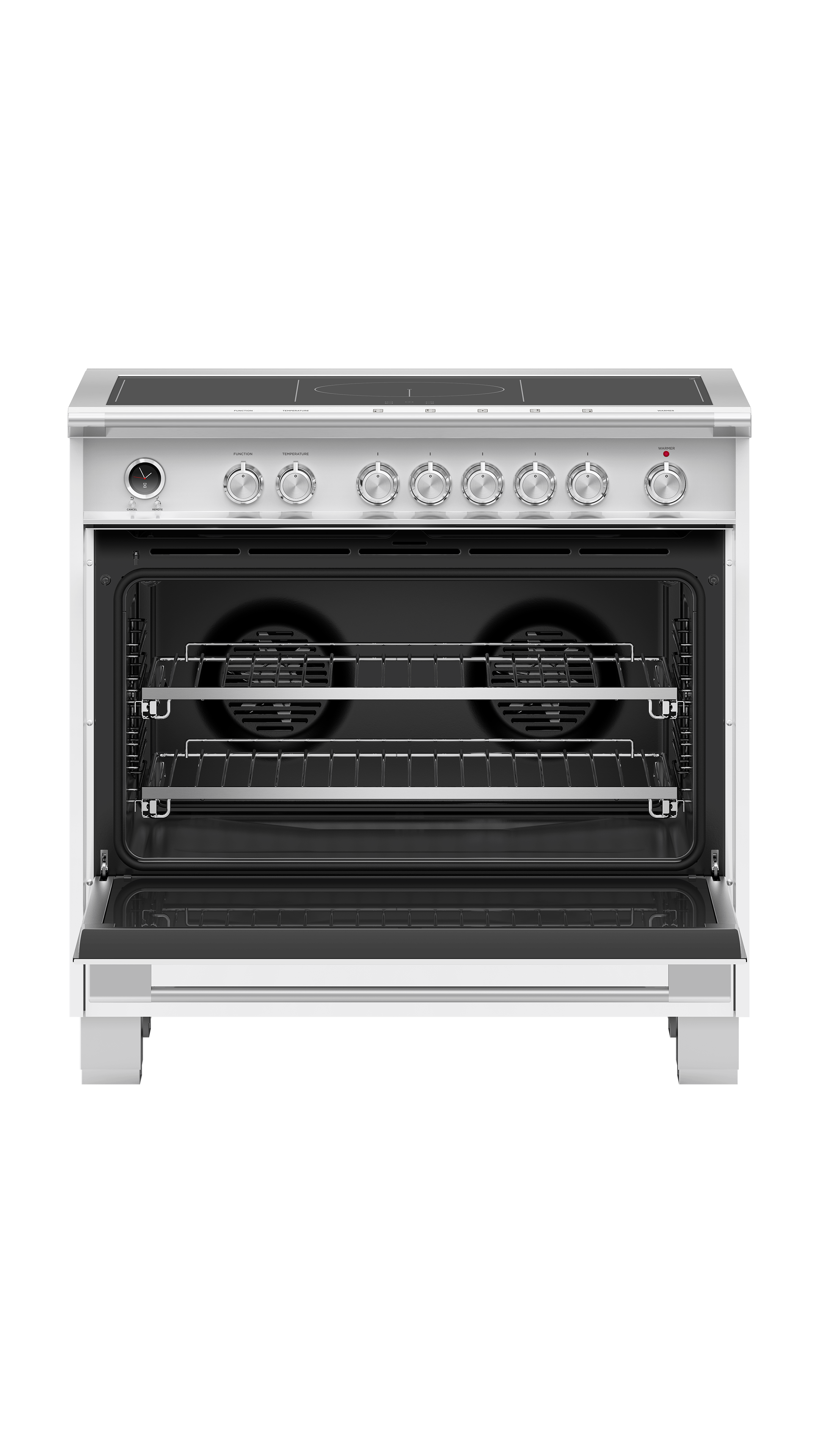 "Fisher and Paykel Induction Range, 36"", 5 Zones with SmartZone, Self-cleaning"
