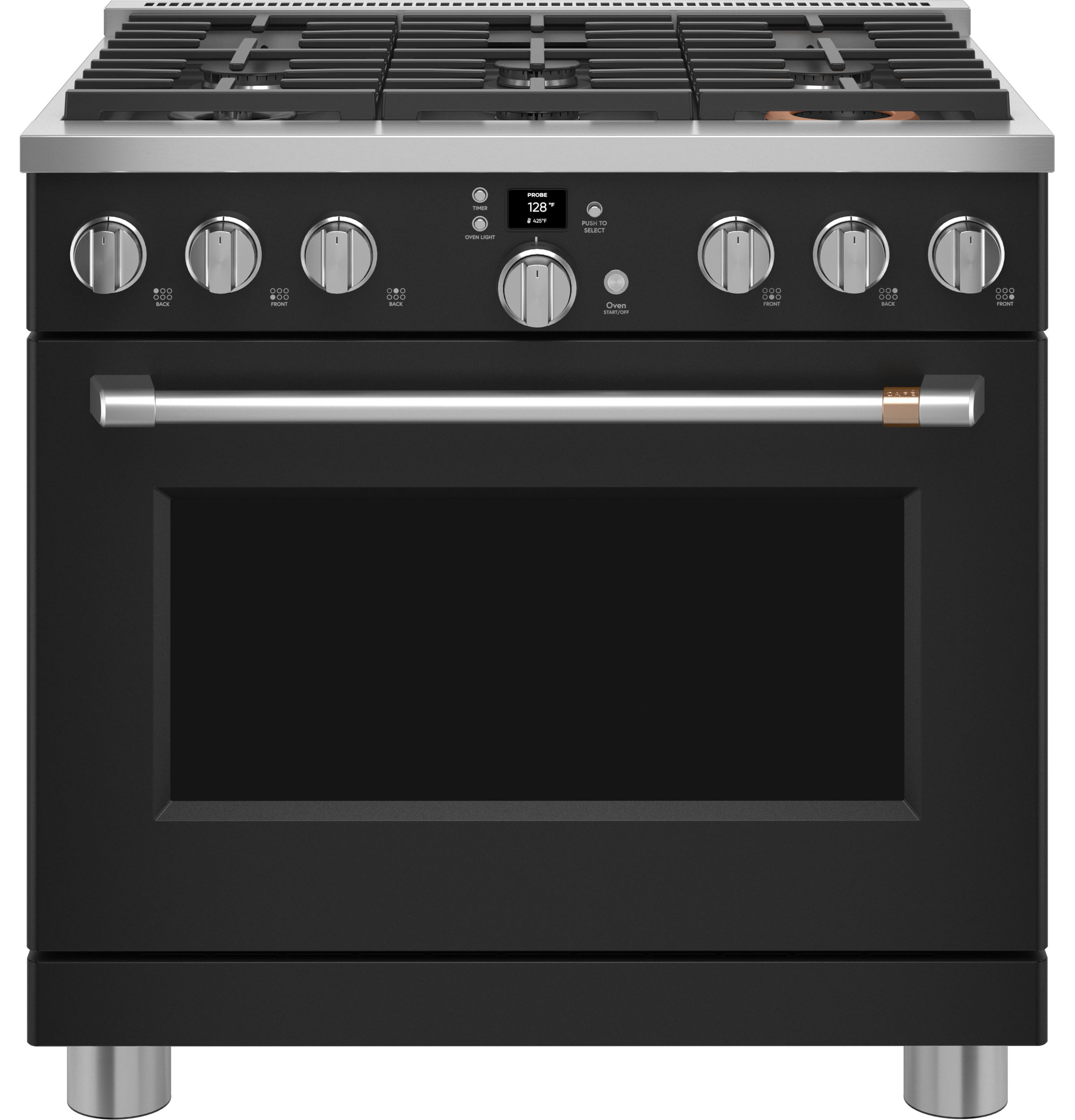 """Cafe Café™ 36"""" Smart All-Gas Commercial-Style Range with 6 Burners (Natural Gas)"""