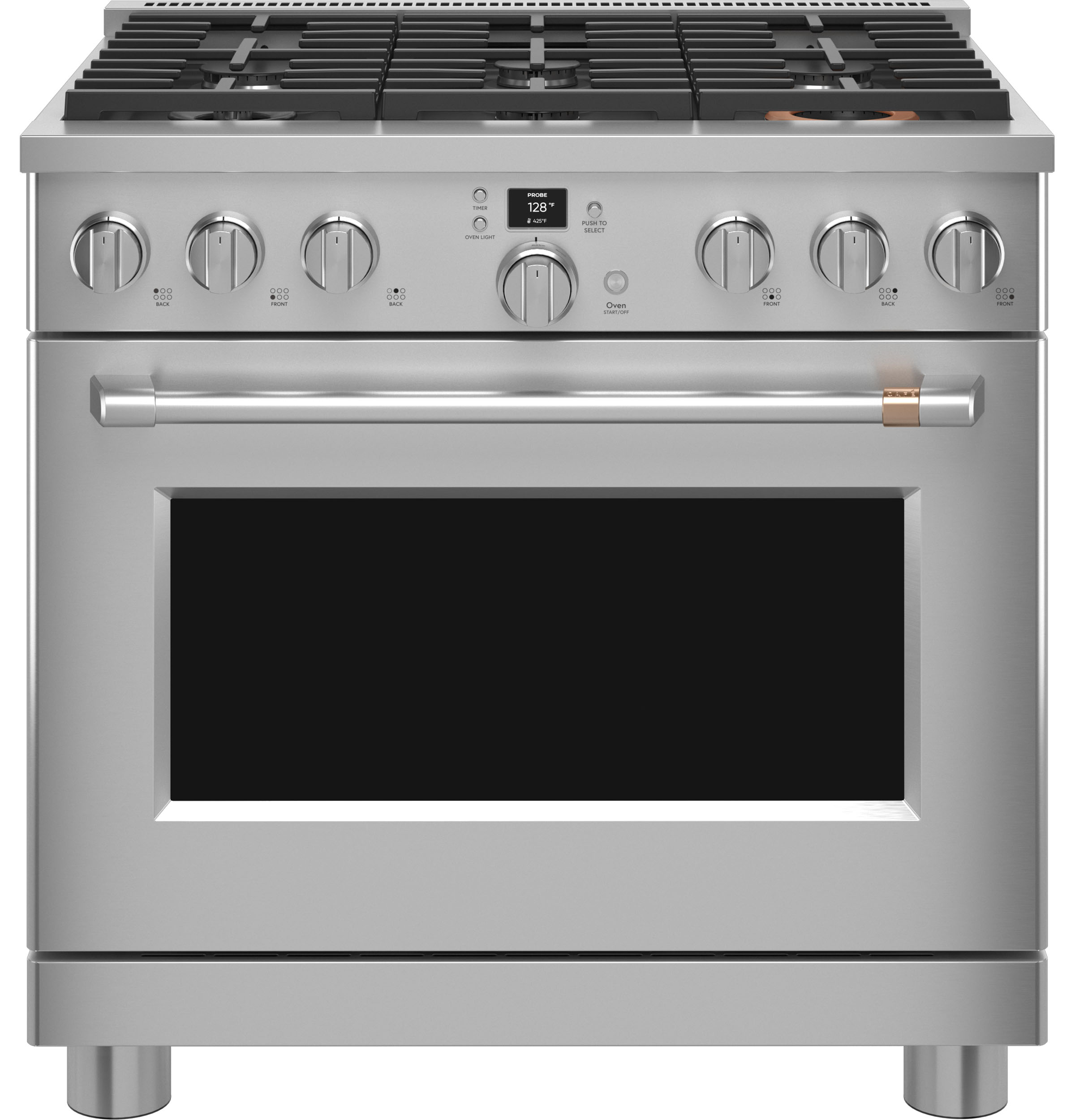 """Cafe Café™ 36"""" Smart Dual-Fuel Commercial-Style Range with 6 Burners (Natural Gas)"""