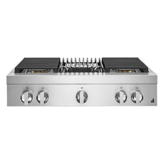 """Jenn-Air NOIR™ 36"""" Gas Professional-Style Rangetop with Grill"""