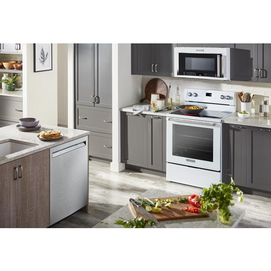 Model: KFEG500EWH | KitchenAid 30-Inch 5-Element Electric Convection Range