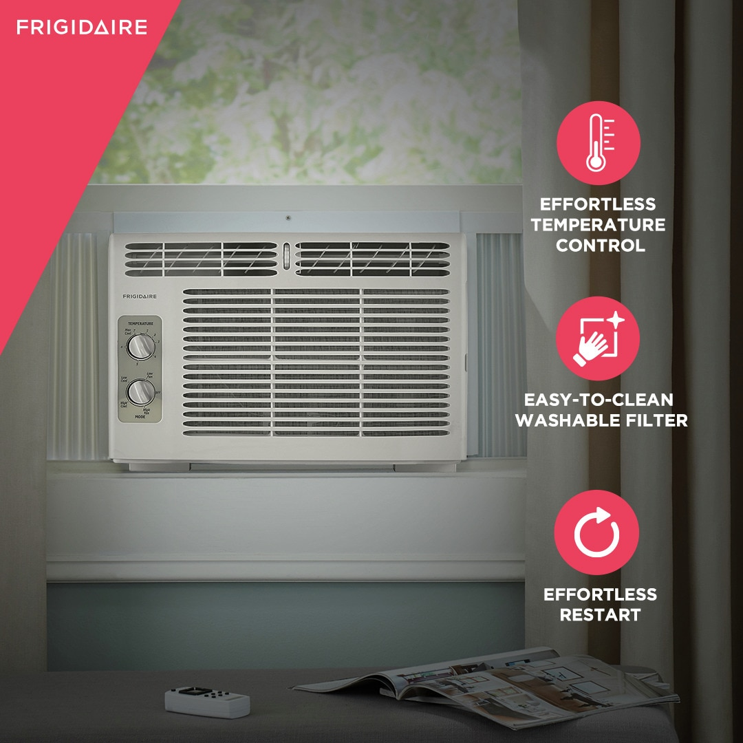 Model: FFRA051WAE   Frigidaire 5,000 BTU Window-Mounted Room Air Conditioner