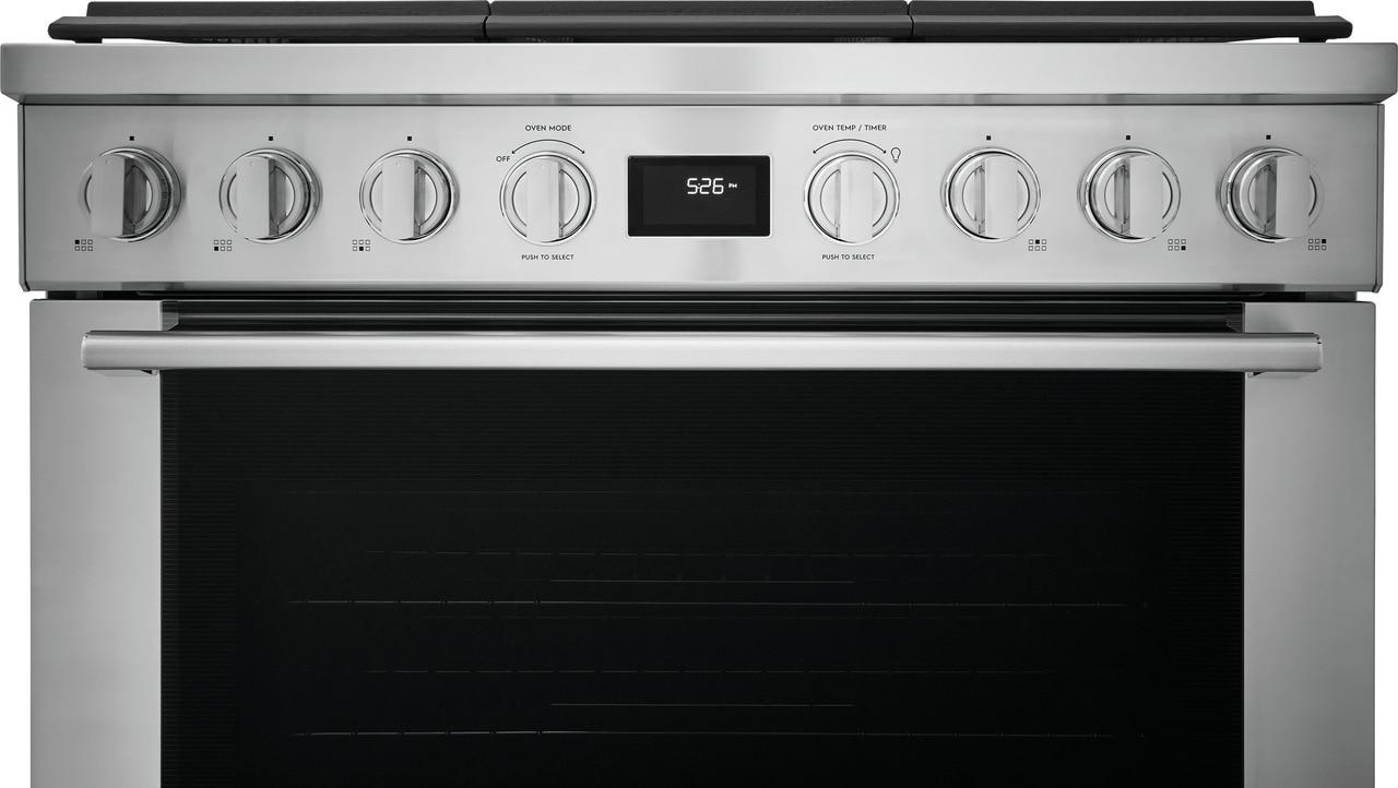 "Model: ECFD3668AS | Electrolux 36"" Dual-Fuel Freestanding Range"