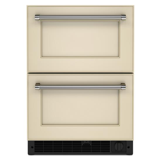 "Model: KUDF204KPA | KitchenAid 24"" Panel-Ready Undercounter Double-Drawer Refrigerator/Freezer"