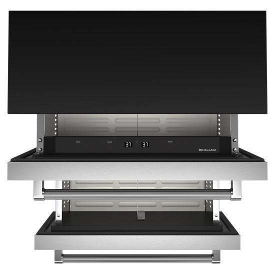 "Model: KUDR204KSB   KitchenAid 24"" Stainless Steel Undercounter Double-Drawer Refrigerator"