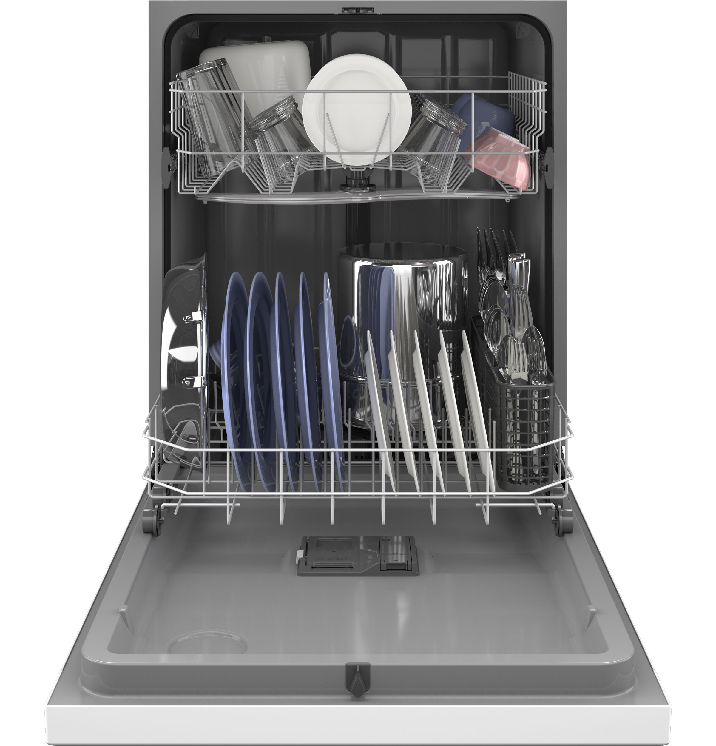Model: HDF310PGRWW | Hotpoint Hotpoint® One Button Dishwasher with Plastic Interior