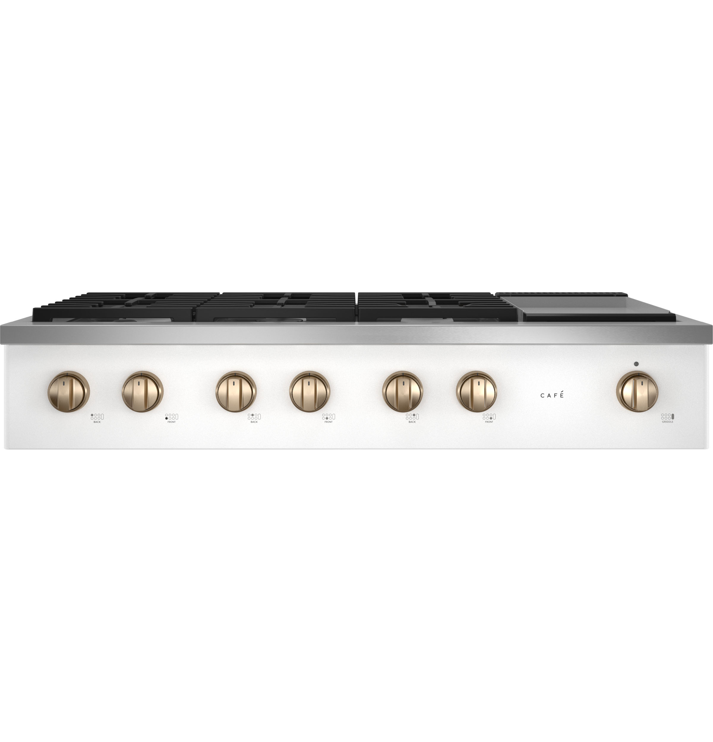 """Cafe Café™ 48"""" Commercial-Style Gas Rangetop with 6 Burners and Integrated Griddle (Natural Gas)"""