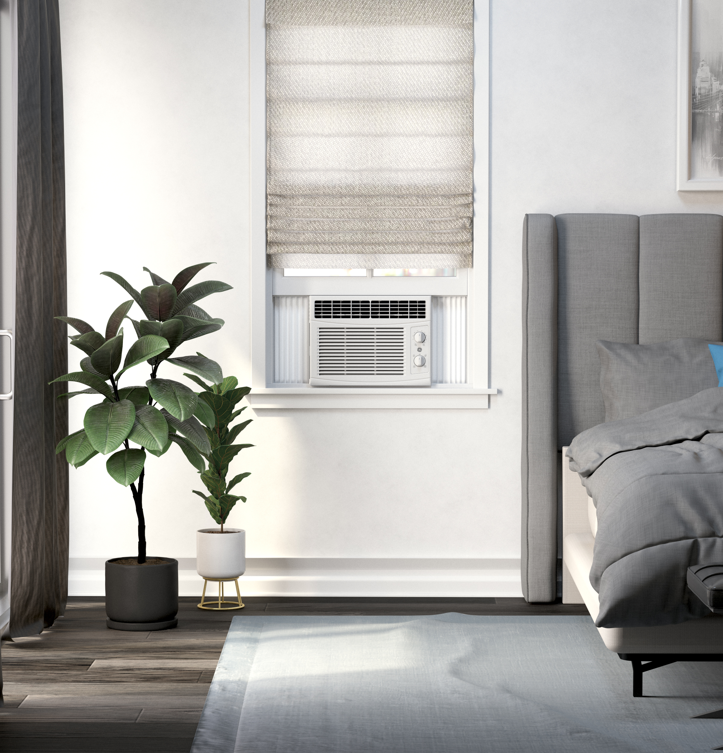 Model: AHEC05AC | GE GE® 5,050 BTU Mechanical Window Air Conditioner for Small Rooms up to 150 sq. ft.