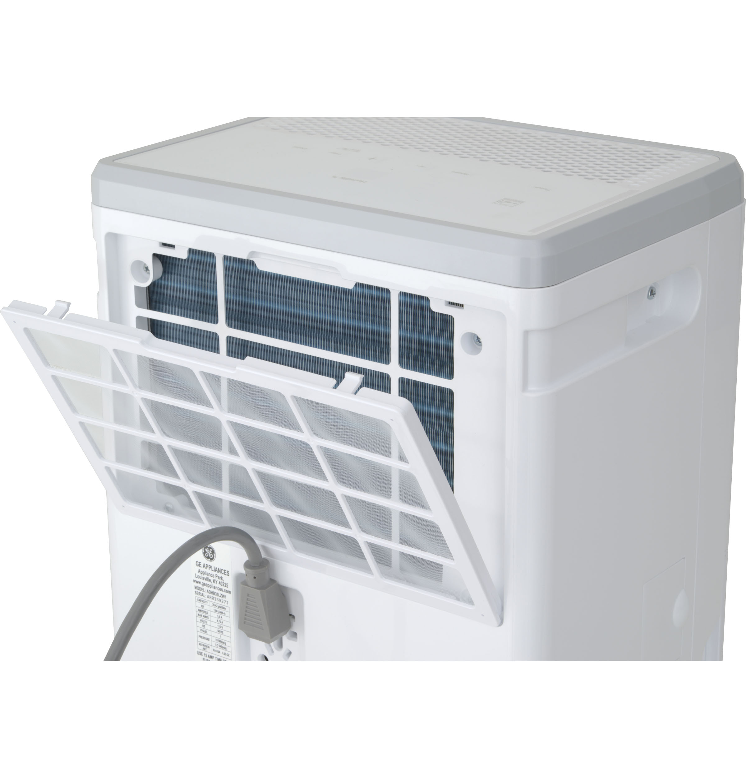 Model: QPHR50LZ | Haier Haier® ENERGY STAR® 50 Pint Dehumidifier for Home or Basement with Built-in Pump, Large, White