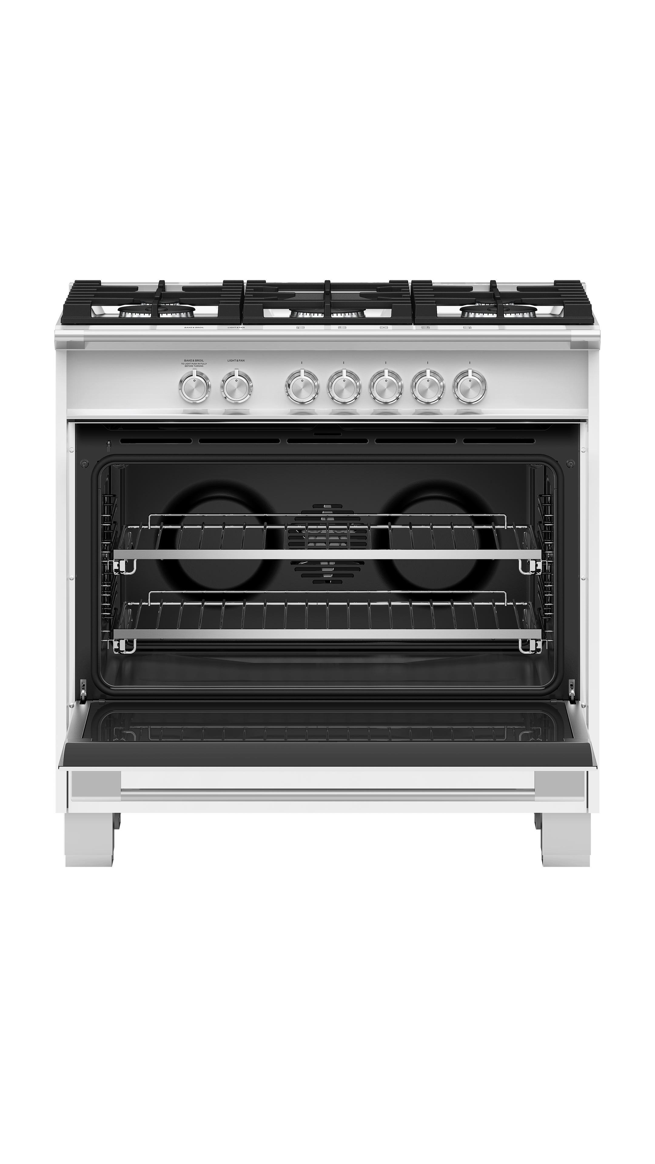 "Fisher and Paykel Gas Range, 36"", 5 Burners"