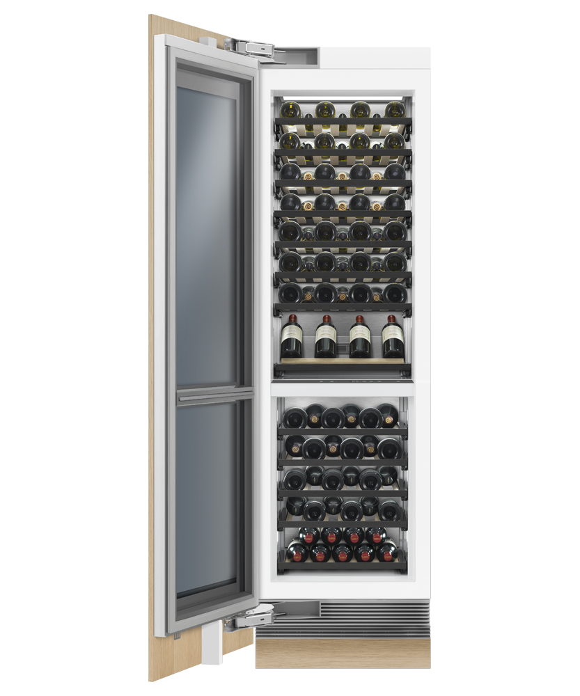 Model: RS2484VL2K1 | Fisher and Paykel Integrated Column Wine Cabinet, 24""