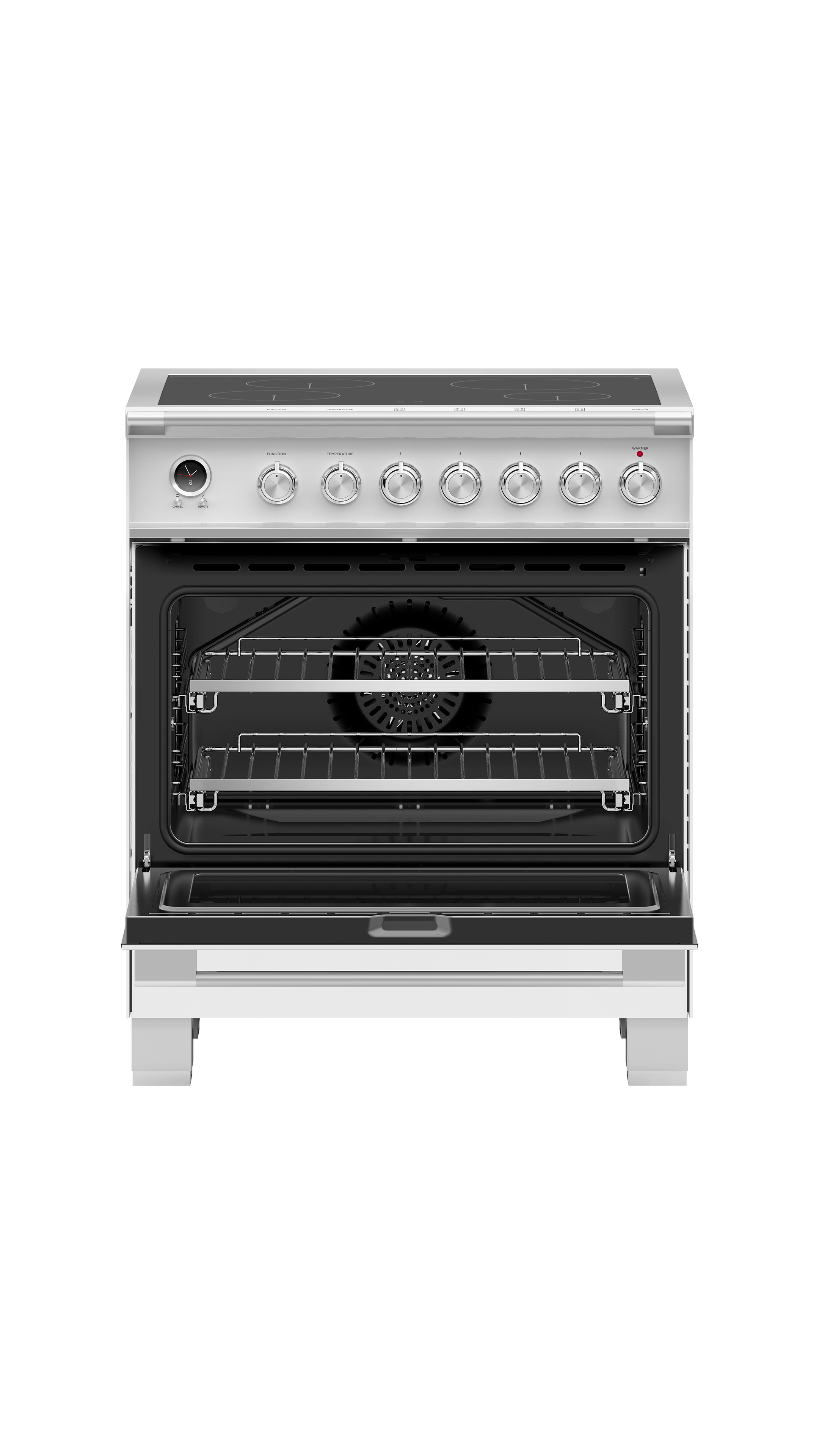 "Fisher and Paykel Induction Range, 30"", 4 Zones, Self-cleaning"
