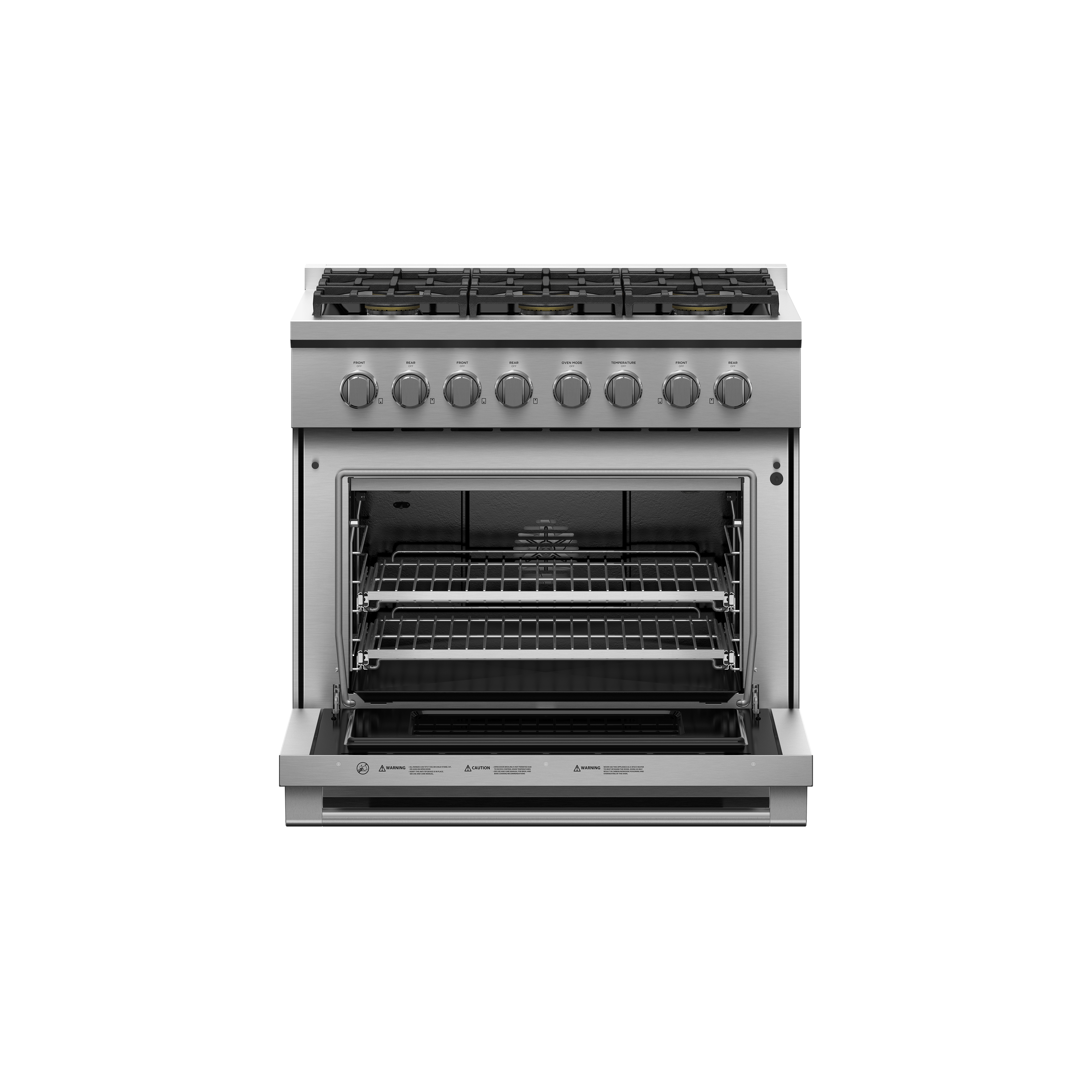 """Fisher and Paykel Gas Range, 36"""", 6 Burners"""