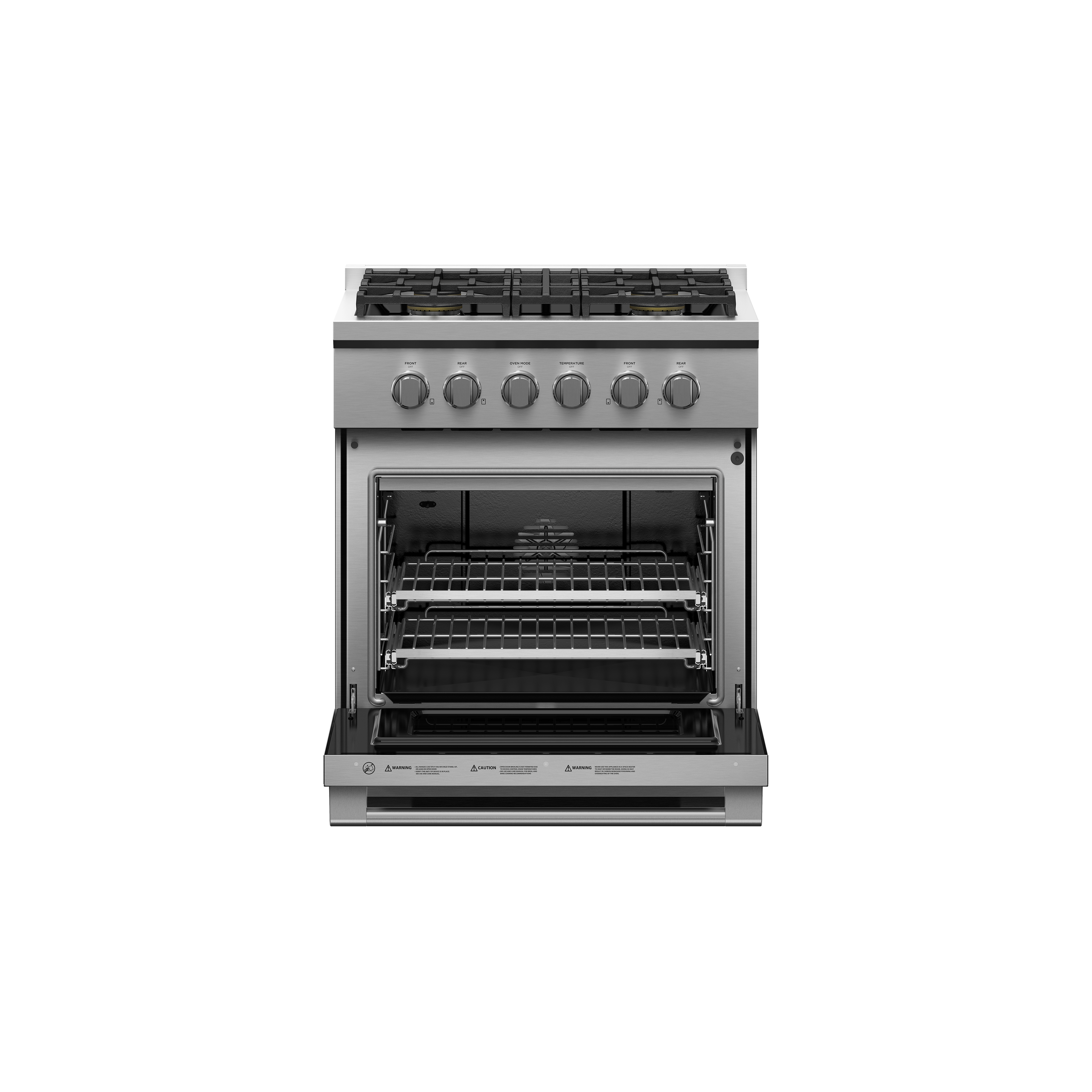 """Fisher and Paykel Gas Range, 30"""", 4 Burners"""
