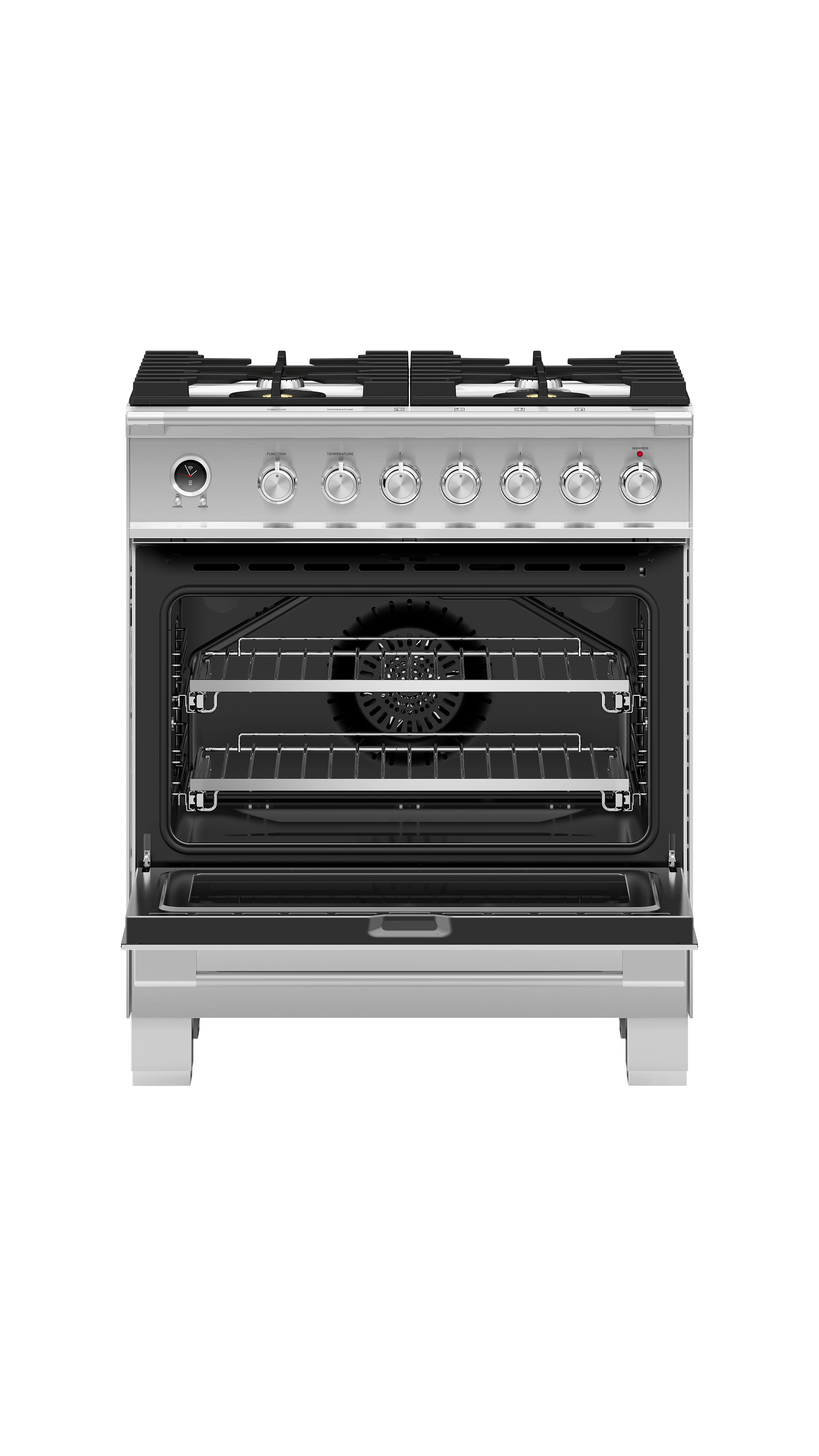 """Fisher and Paykel Dual Fuel Range, 30"""", 4 Burners, Self-cleaning"""
