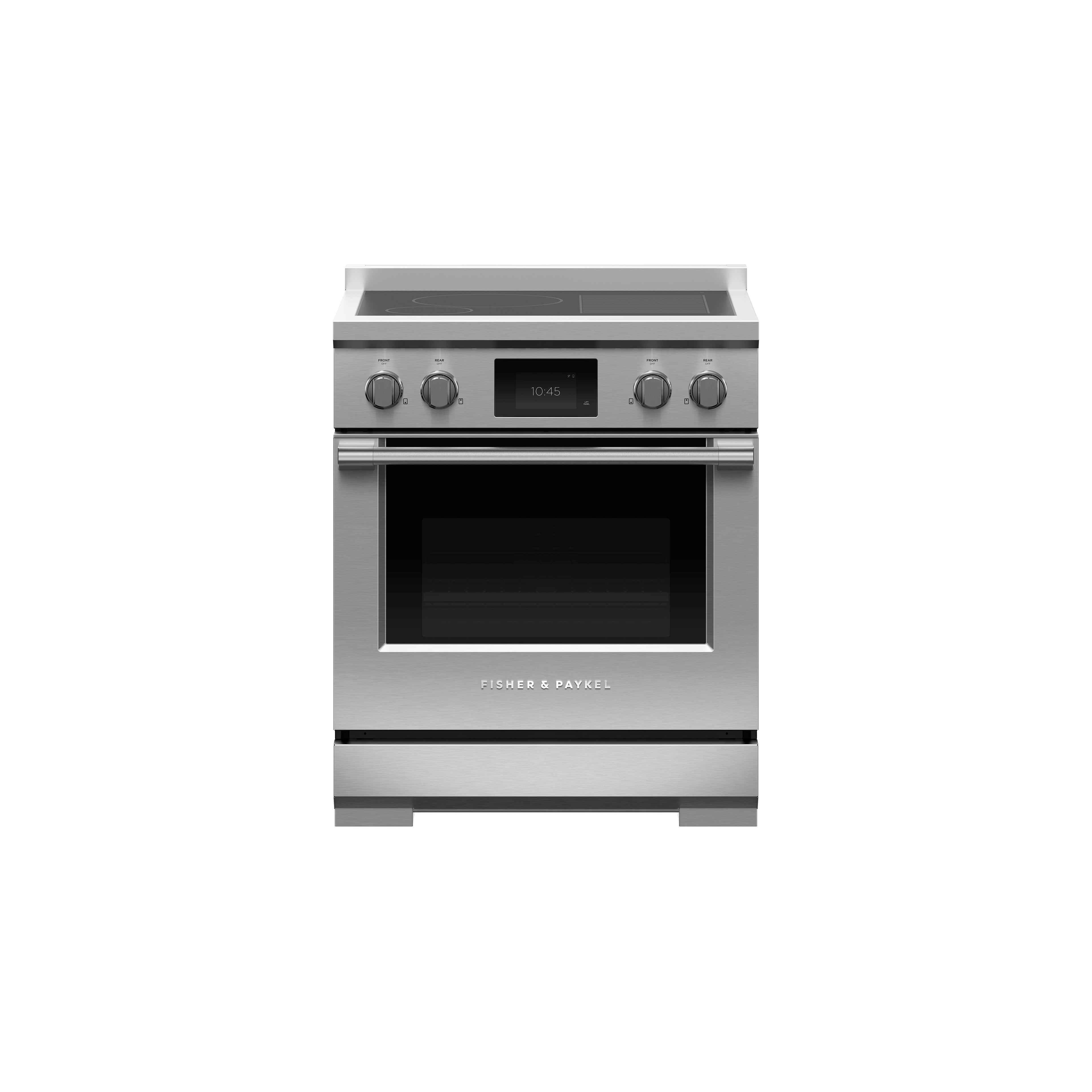 """Fisher and Paykel Induction Range, 30"""", 4 Zones with SmartZone, Self-cleaning"""