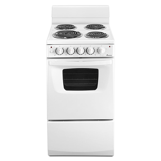 Amana 20-inch Electric Range Oven with Versatile Cooktop