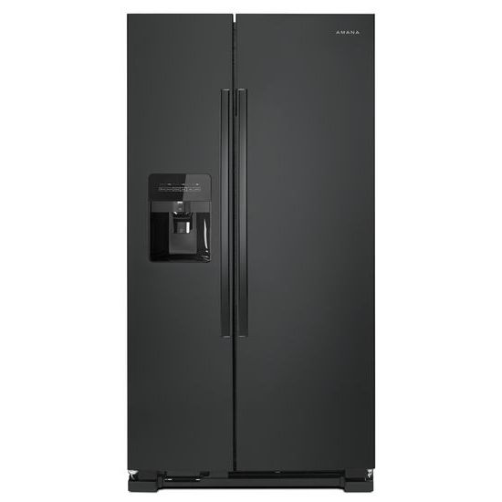 Model: ASI2575GRB | Amana 36-inch Side-by-Side Refrigerator with Dual Pad External Ice and Water Dispenser